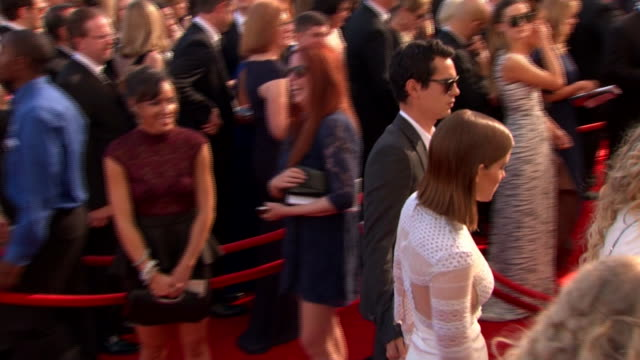 kate mara arrives at the 2013 emmy awards. - emmy awards stock videos & royalty-free footage