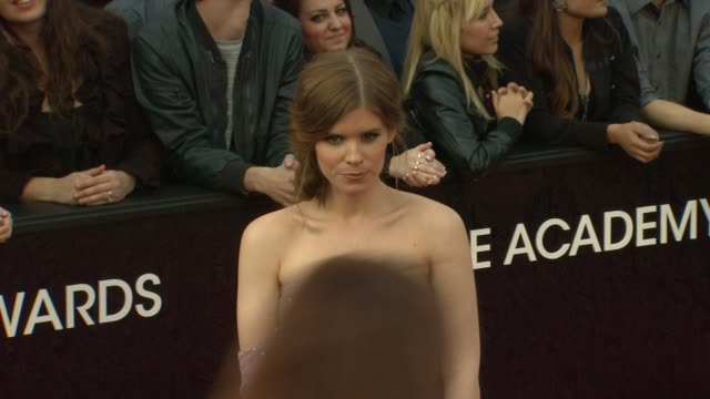 kate mara at 84th annual academy awards arrivals on 2/26/12 in hollywood ca - kate mara stock videos and b-roll footage
