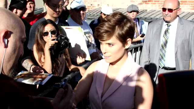 kate mara at jimmy kimmel live in hollywood in celebrity sightings in los angeles - kate mara stock videos and b-roll footage