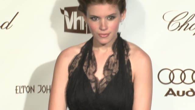 kate mara at the 14th annual elton john aids foundation oscar party cohosted by audi chopard and vh1 at the pacific design center in west hollywood... - kate mara stock videos and b-roll footage