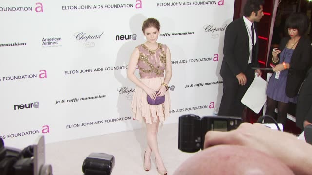 kate mara at the 18th annual elton john aids foundation oscar party at west hollywood ca - kate mara stock videos and b-roll footage