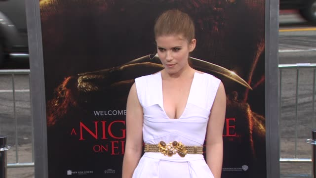 kate mara at the 'a nightmare on elm street' premiere at hollywood ca - kate mara stock videos and b-roll footage