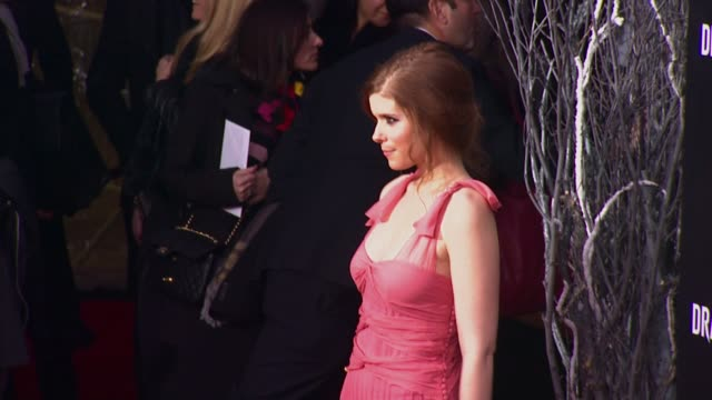 kate mara at 'the girl with the dragon tattoo' new york premiere new york ny united states - the girl with the dragon tattoo stock videos and b-roll footage