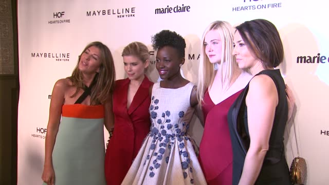 Kate Mara Lupita Nyong'o Elle Fanning Anne Fulenwider Nina Garcia at Marie Claire Celebrates May Cover Stars in Los Angeles CA