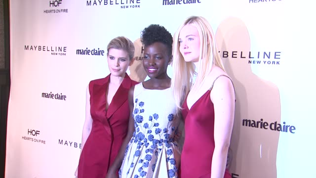Kate Mara Lupita Nyong'o Elle Fanning at Marie Claire Celebrates May Cover Stars in Los Angeles CA
