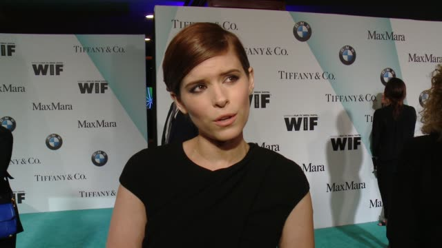 stockvideo's en b-roll-footage met interview kate mara on being honored tonight and what the event means for women at women in film 2015 crystal lucy awards presented by max mara bmw... - hyatt
