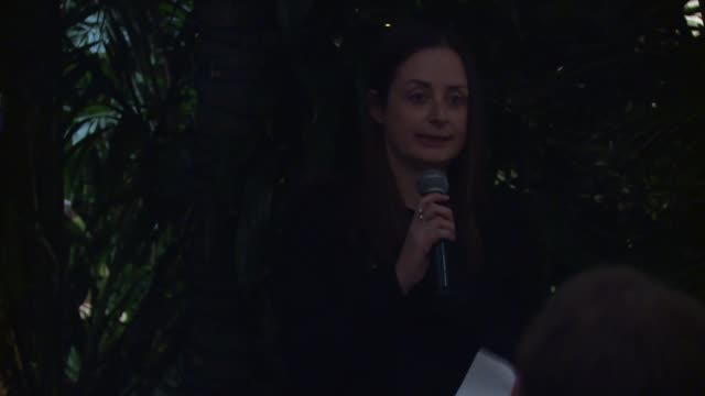 speech kate marks on the australian oscar® nominees at the screen australia and australians in film host australian oscar nominees party at four... - oscar party stock-videos und b-roll-filmmaterial