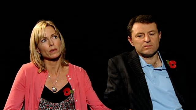 kate mccann interview with gerry mccann beside sot can't / don't think any parent could reach a point where they feel like they have done everything... - kate mccann stock videos & royalty-free footage