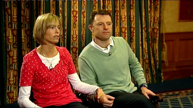 kate mccann interview with gerry mccann beside sot - twins amazing, they still talk about when madeleine comes home, they keep us going - this would... - kate mccann stock-videos und b-roll-filmmaterial