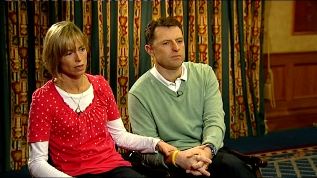 kate mccann interview with husband gerry mccann beside sot - i do and i expected more, don't believe my expectations were higher than they should... - kate mccann stock-videos und b-roll-filmmaterial