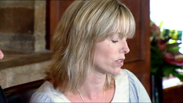 kate mccann press conference sot gerry mccann watching kate mccann speaking at press conference gerry mccann speaking at press conference gerry... - kate mccann stock-videos und b-roll-filmmaterial