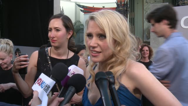 INTERVIEW Kate McKinnon on what it means to have her movie premier here at the iconic TCL Chinese Theatre at Premiere Of Sony Pictures'...