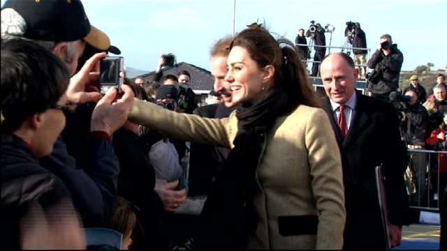 kate middleton family pictures released; 24.2.2011 wales: anglesey: ext various shots of prince william and kate middleton with prince william at... - passenger craft stock videos & royalty-free footage