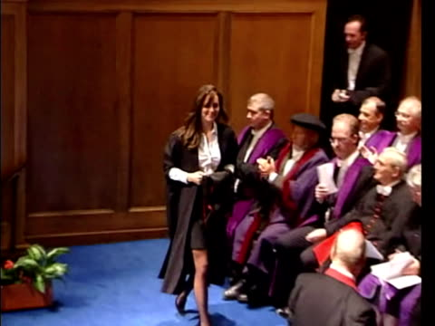 kate middleton receiving her degree from st andrews university exterior shots kate middleton in robes after receiving degree kate middleton... - raw footage stock videos & royalty-free footage