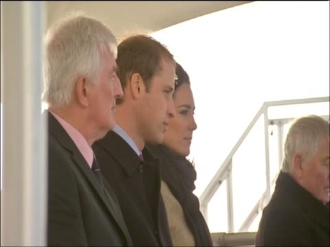 Kate Middleton sits beside Prince William during her first official visit as Prince William's fiancee Anglesey