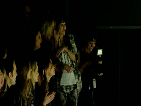 Kate Moss Annabelle Neilson at the Naomi Campbell's Fashion For Relief_Haiti London2010_Backstage Front Row at London England