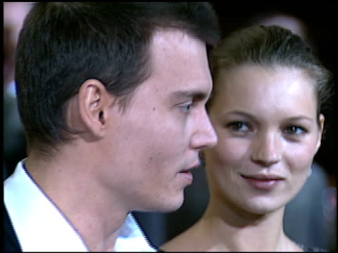 kate moss at the 'donnie brasco' premiere on february 24 1997 - 1997 stock videos & royalty-free footage
