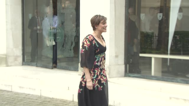 stockvideo's en b-roll-footage met kate silverton at the duchess of cambridge attends launch of maternal mental health films with heads together at royal college of obstetricians and... - kate silverton