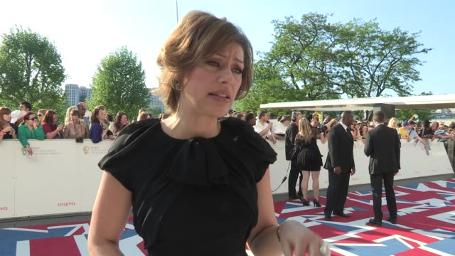 stockvideo's en b-roll-footage met kate silverton on motherhood, her work and shopping arqiva british academy television awards at the national theatre on may 27, 2012 in london,... - kate silverton