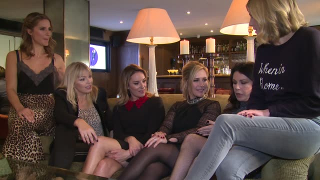 INTERVIEW Kate Thornton Tamzin Outhwaite Lisa Faulkner Amanda Byram Julie Graham on the launch of TBSeen on January 04 2016 in London England