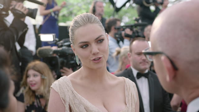kate upton at amfar gala cannes 2017 at hotel du capedenroc on may 25 2017 in cap d'antibes france - amfar stock videos & royalty-free footage
