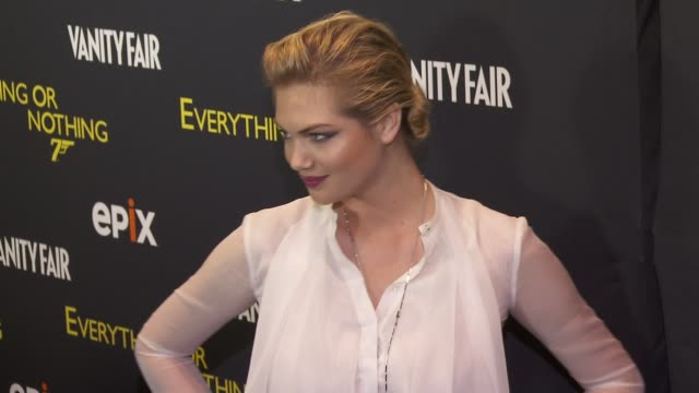 Kate Upton at EPIX And VANITY FAIR Present The Premiere Of Everything Or Nothing The Untold Story Of 007 At MoMA And Metropolitan Club at MOMA on...