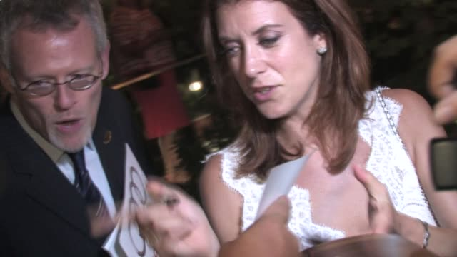 stockvideo's en b-roll-footage met kate walsh leaving the 2010 entertainment weekly and women in film pre emmy party at the celebrity sightings in los angeles at los angeles ca. - pre emmy party