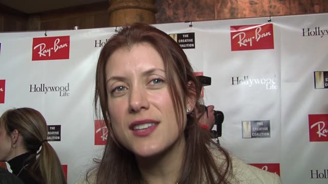 kate walsh on matt dillon and how the creative coalition supports actors at the 2006 sundance film festival rayban visionary awards at the stein... - actor stock videos & royalty-free footage