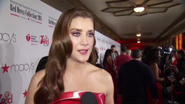 INTERVIEW Kate Walsh on why she chooses to Go Red at The American Heart Association's Go Red For Women Red Dress Collection 2018 Presented By Macy's...