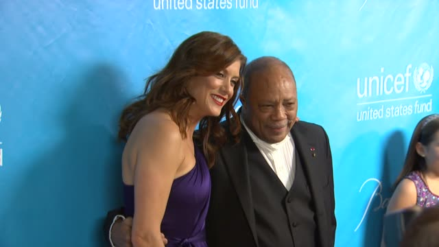 kate walsh, quincy jones at 2011 unicef ball presented by baccarat in los angeles ca. - quincy jones stock-videos und b-roll-filmmaterial