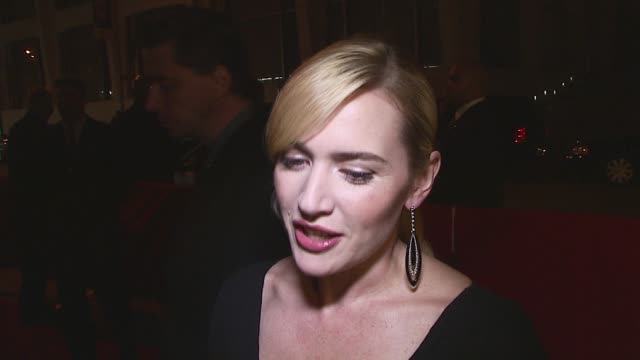 kate winslet/ actress she is wearing valentino she discusses her character in the film, how being a parent affected her performance, how she probably... - kate winslet stock videos & royalty-free footage