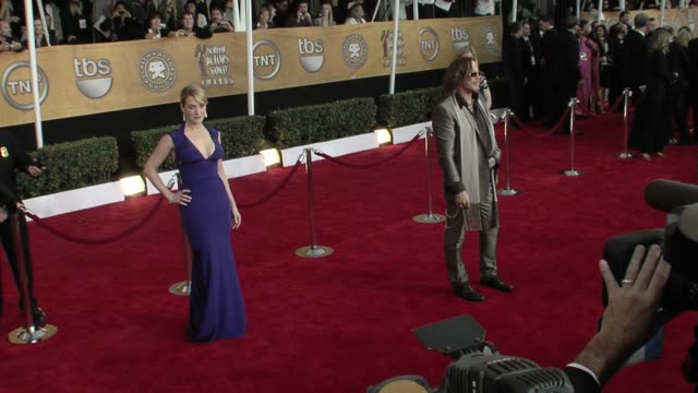 kate winslet and mickey rourke at the 15th annual screen actors guild awards part 7 at los angeles ca - kate winslet stock videos and b-roll footage