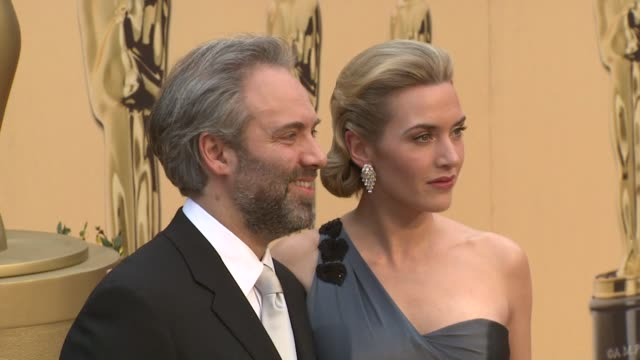 kate winslet and sam mendes at the 81st academy awards arrivals part 7 at los angeles ca. - kate winslet stock videos & royalty-free footage