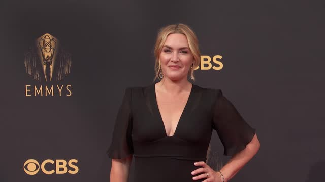 kate winslet arrives to the 73rd annual primetime emmy awards at l.a. live on september 19, 2021 in los angeles, california. - emmy awards stock videos & royalty-free footage
