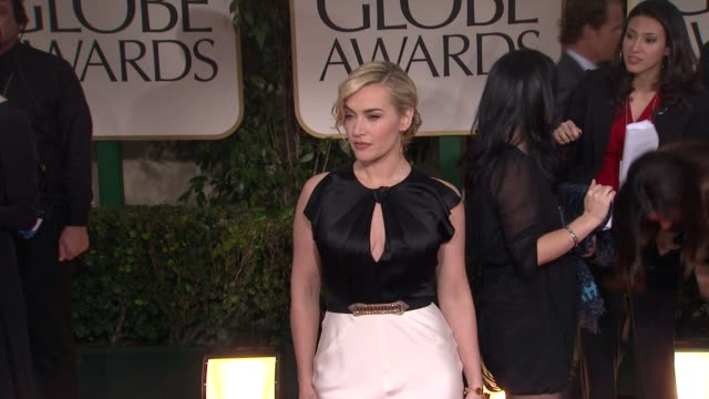 kate winslet at 69th annual golden globe awards - arrivals on january 15, 2012 in beverly hills, california - kate winslet stock videos & royalty-free footage