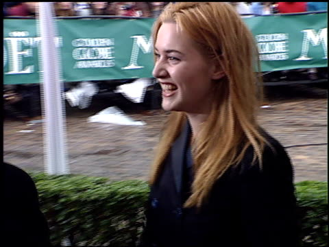 kate winslet at the 1996 golden globe awards at the beverly hilton in beverly hills, california on january 21, 1996. - kate winslet stock videos & royalty-free footage