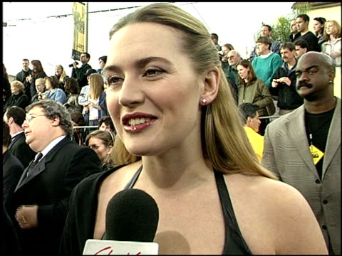 Kate Winslet at the 2001 Screen Actors Guild SAG Awards arrivals at the Shrine Auditorium in Los Angeles California on March 11 2001