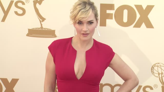 kate winslet at the 63rd primetime emmy awards - arrivals part 2 at los angeles ca. - kate winslet stock videos & royalty-free footage
