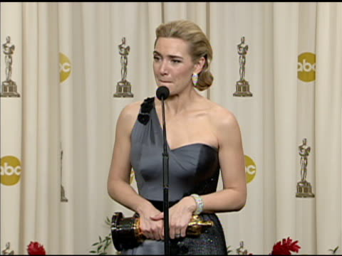 kate winslet at the 81st academy awards press room at los angeles ca - kate winslet stock-videos und b-roll-filmmaterial