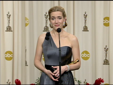 kate winslet at the 81st academy awards press room at los angeles ca. - kate winslet stock videos & royalty-free footage