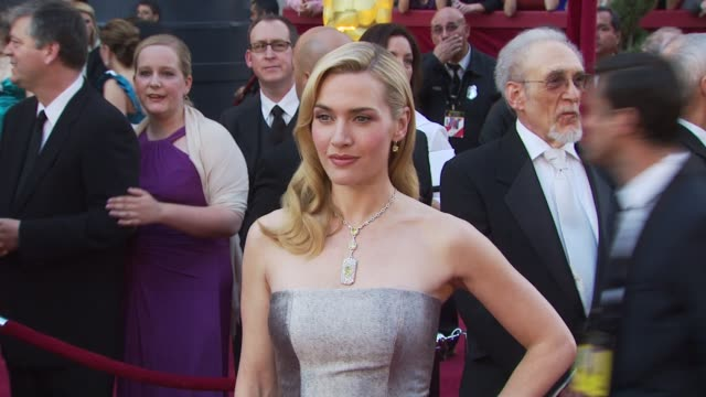 kate winslet at the 82nd annual academy awards - arrivals at hollywood ca. - academy awards stock videos & royalty-free footage