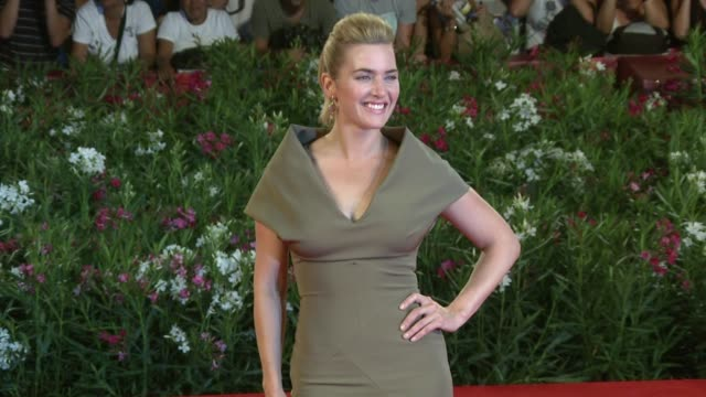 kate winslet at the carnage premiere: venice film festival 2011 at venice . - kate winslet stock videos & royalty-free footage