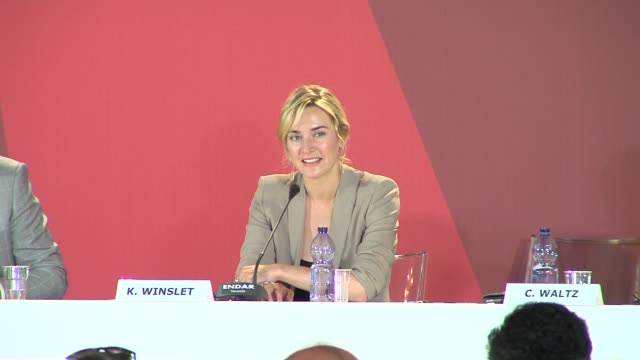 kate winslet at the carnage press conference: venice film festival 2011 at venice . - kate winslet stock videos & royalty-free footage