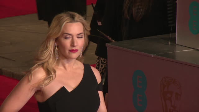 kate winslet at the ee british academy film awards at the royal opera house on february 14, 2016 in london, england. - kate winslet stock videos & royalty-free footage