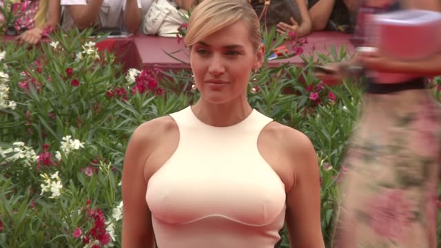 kate winslet at the mildred pierce premiere: venice film festival 2011 at venice . - kate winslet stock videos & royalty-free footage