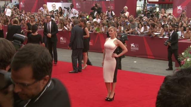 kate winslet at the mildred pierce premiere venice film festival 2011 at venice - kate winslet stock videos and b-roll footage