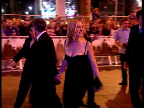 body double claims *flash photography* lib london winslet and director sam mendes arriving for premiere of 'perdition' - kate winslet stock videos and b-roll footage