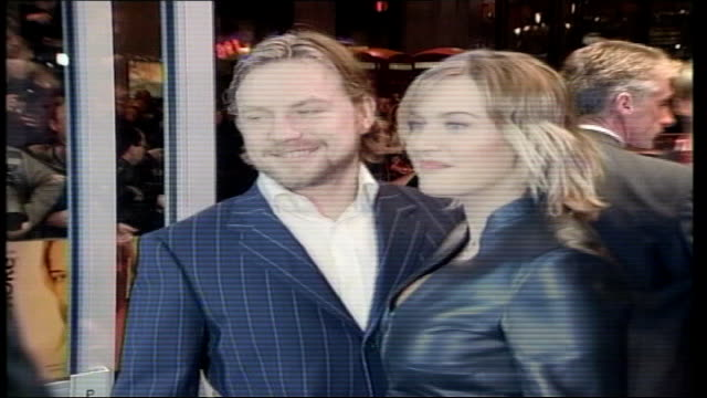 kate winslet marries sam mendes; lib london: int cms winslet and threapleton at premiere - sam mendes stock videos & royalty-free footage