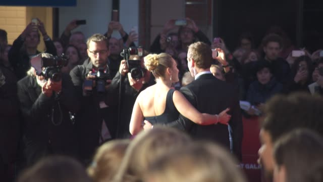 kate winslet michael fassbender at 'steve jobs' closing night gala bfi london film festival at odeon leicester square on october 18 2015 in london... - odeon leicester square stock videos and b-roll footage