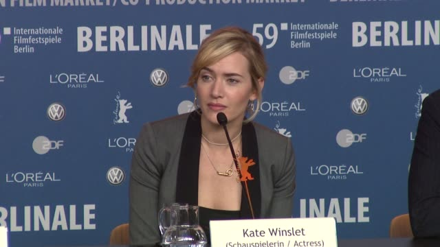 kate winslet on doing the love scenes in the film with the 18 year old actor david kross she says it wasn't a problem at all as they were very... - kate winslet stock videos and b-roll footage